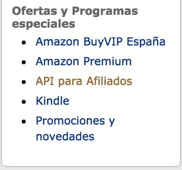 Crear API Amazon para WooZone
